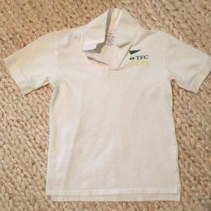 Boy's L (10-12) White Golf Shirt